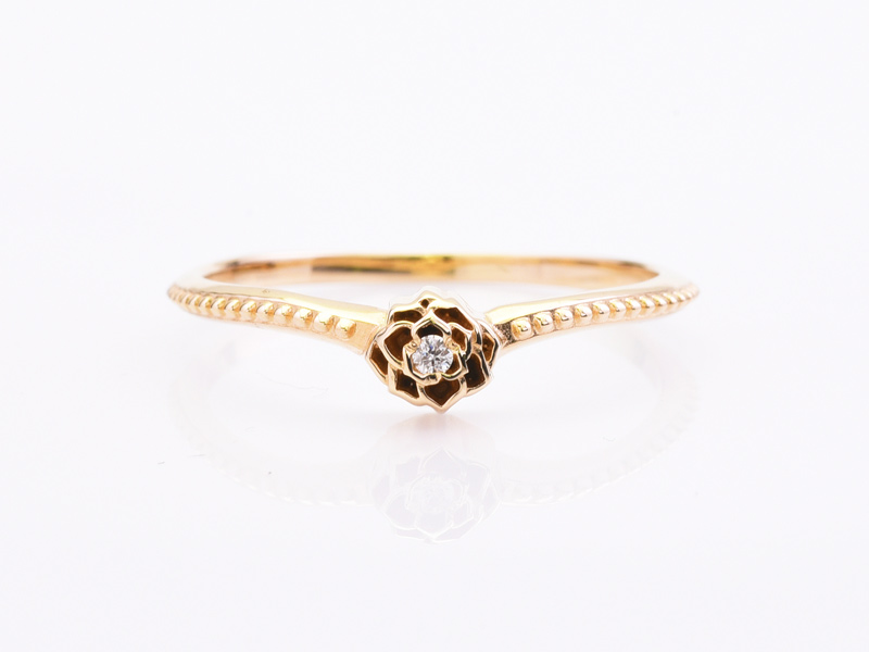 MICRO GRID ROSE RING