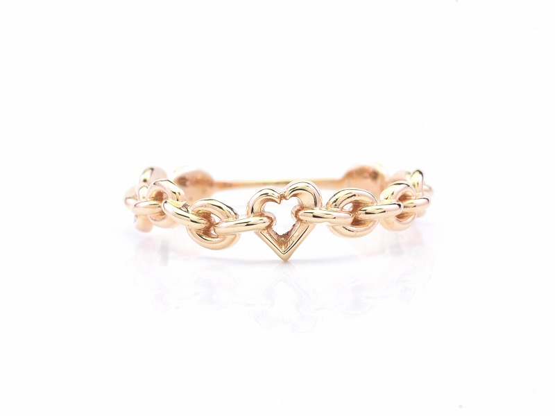 SHAKE CHAIN RING:HEART