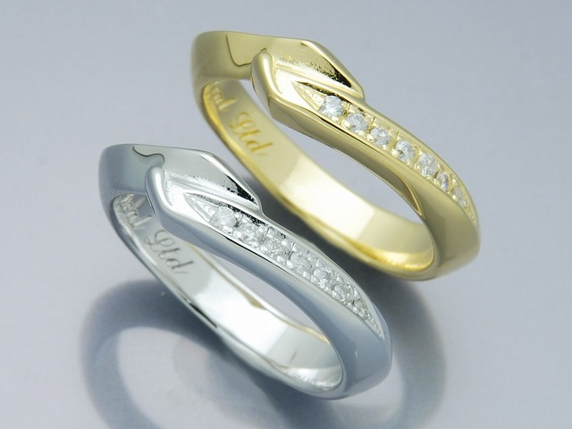 EDGE FLAG RING with DIA(K18)
