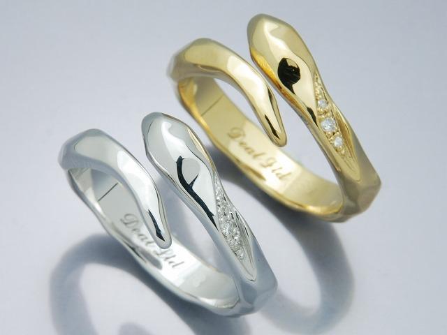HAMMERD SNAKE RING(K18)