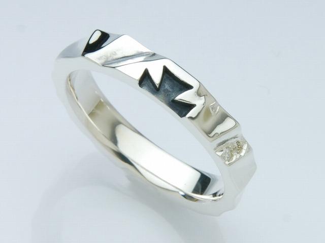 SPLIT SILK RING:NARROW(ホワイトダイヤ)