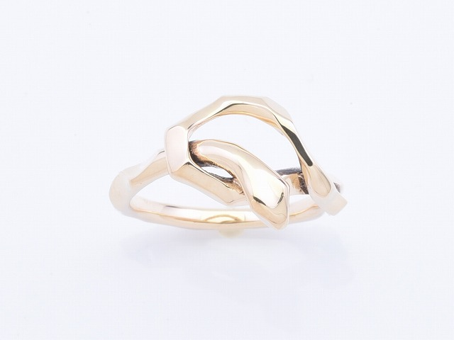 KNOT SNAKE RING SINGLE:K10