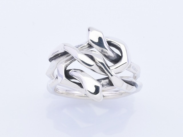KNOT SNAKE RING DOUBLE