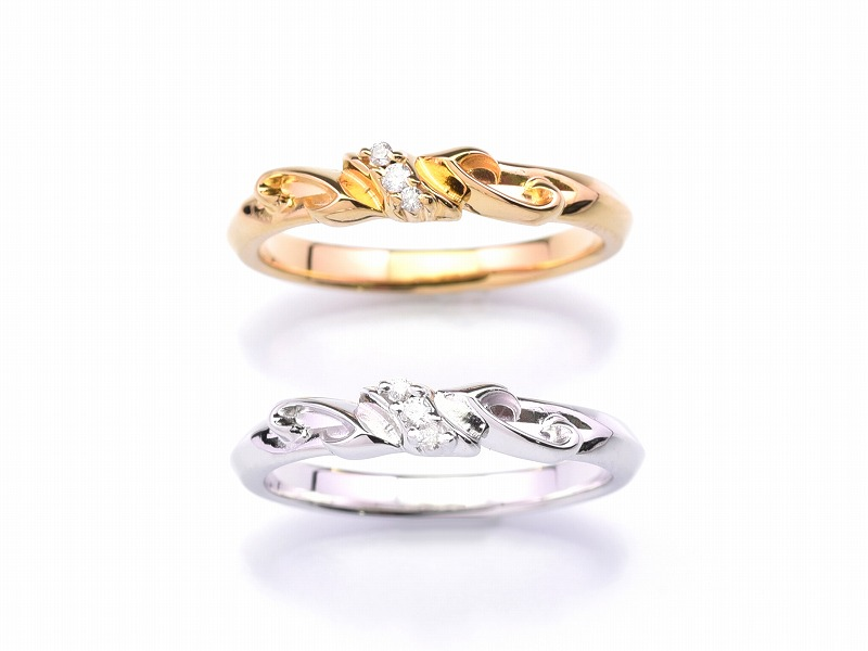 PLEDGE LILY RING:with stone(K18)