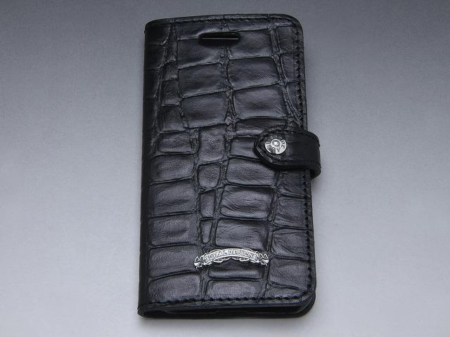 ブックiPhone7/8 , 7Plus/8Plus ケース(型押しクロコ)