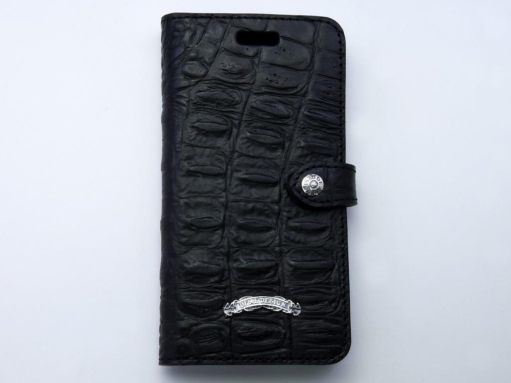 ブックiPhoneX ケース(型押しクロコ)