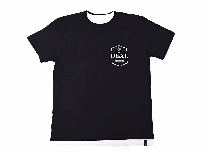 レイヤードTシャツ:ハウスロゴ(ブラック)