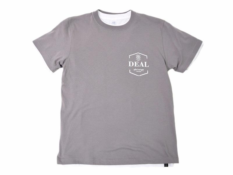 レイヤードTシャツ:ハウスロゴ(グレー)